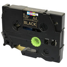 Load image into Gallery viewer, Prestige Cartridge™ Compatible TZ-314/TZe-314 Gold on Black Label Tapes (6mm x 8m) for Brother P-Touch Label Printing Machines - Prestige Cartridge