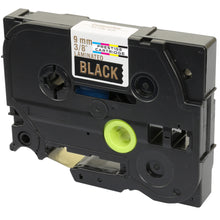 Load image into Gallery viewer, Prestige Cartridge™ Compatible TZ-324/TZe-324 Gold on Black Label Tapes (9mm x 8m) for Brother P-Touch Label Printing Machines - Prestige Cartridge