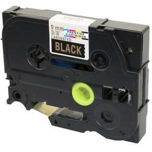 Prestige Cartridge™ Compatible TZ-324/TZe-324 Gold on Black Label Tapes (9mm x 8m) for Brother P-Touch Label Printing Machines - Prestige Cartridge
