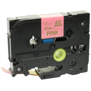 Prestige Cartridge™ Compatible TZeRE34 Gold on Pink Label Tape (12mm x 4m) for Brother P-Touch Serial Label Printing Machines - Prestige Cartridge