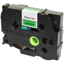 Load image into Gallery viewer, Prestige Cartridge™ Compatible TZ-D41 TZe-D41 Black on Fluorescent Green Label Tapes (18mm x 8m) for Brother P-Touch Label Printing Machines - Prestige Cartridge
