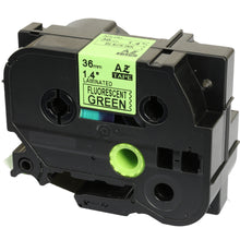 Load image into Gallery viewer, Prestige Cartridge™ Compatible TZ-D61 TZe-D61 Black on Fluorescent Green Label Tapes (36mm x 8m) for Brother P-Touch Label Printing Machines - Prestige Cartridge