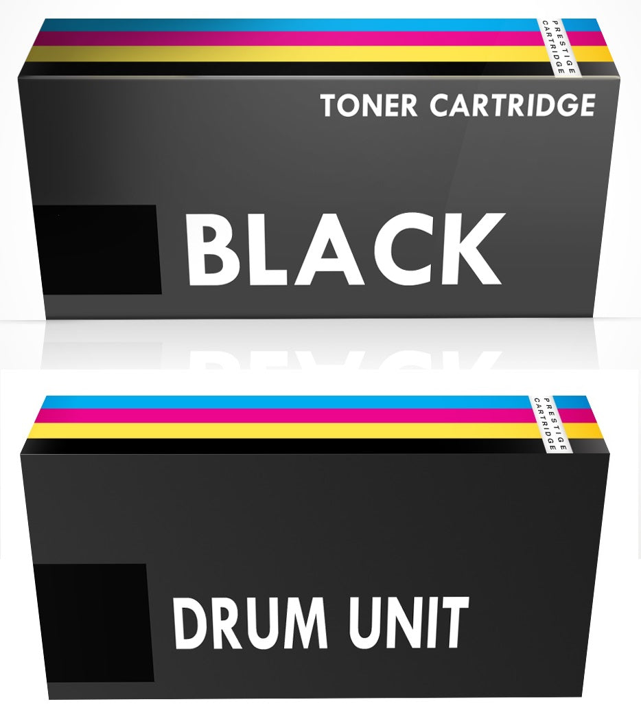 Prestige Cartridge™ COMBO PACK - Compatible TN3330 & DR3300 Laser Toner Cartridge + Drum Units for Brother DCP-8110DN, DCP-8250DN, HL-5440D, HL-5450DN, HL-5450DNT, HL-5470DW, HL-6180DW, HL-6180DWT - Prestige Cartridge