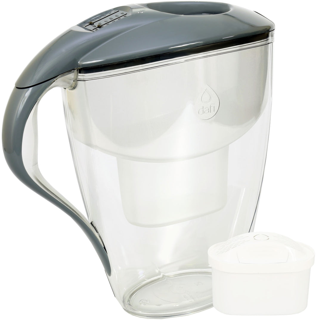 Water Filter Jug Dafi Astra Unimax 3.0L with Free Filter Cartridge - Graphite - Prestige Cartridge