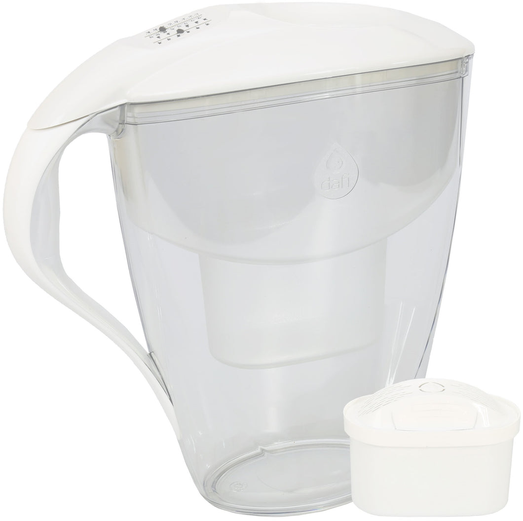 Water Filter Jug Dafi Astra Unimax 3.0L with Free Filter Cartridge - White - Prestige Cartridge