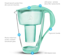 Load image into Gallery viewer, Water Filter Glass Jug Dafi Crystal Classic 2.0L with Free Filter Cartridge - Mint - Prestige Cartridge