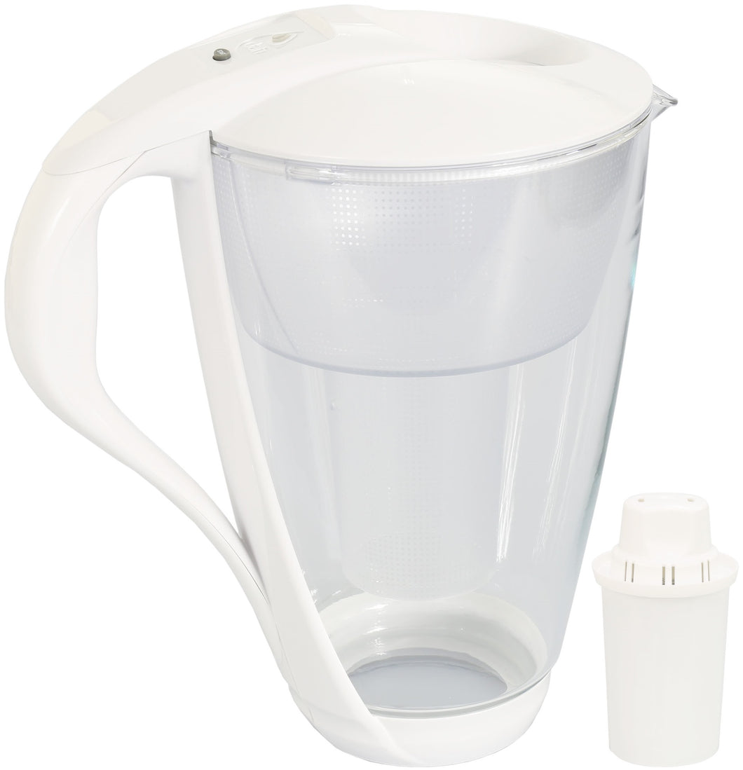Water Filter Glass Jug Dafi Crystal Classic 2.0L with Free Filter Cartridge - White - Prestige Cartridge