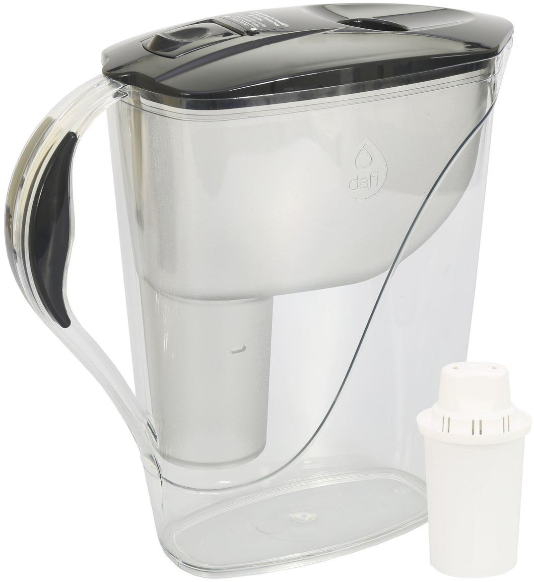 Water Filter Jug Dafi Luna Classic 3.3L with Free Filter Cartridge - Graphite - Prestige Cartridge