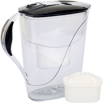 Water Filter Jug Dafi Luna Unimax 3.3L with Free Filter Cartridge - Graphite - Prestige Cartridge