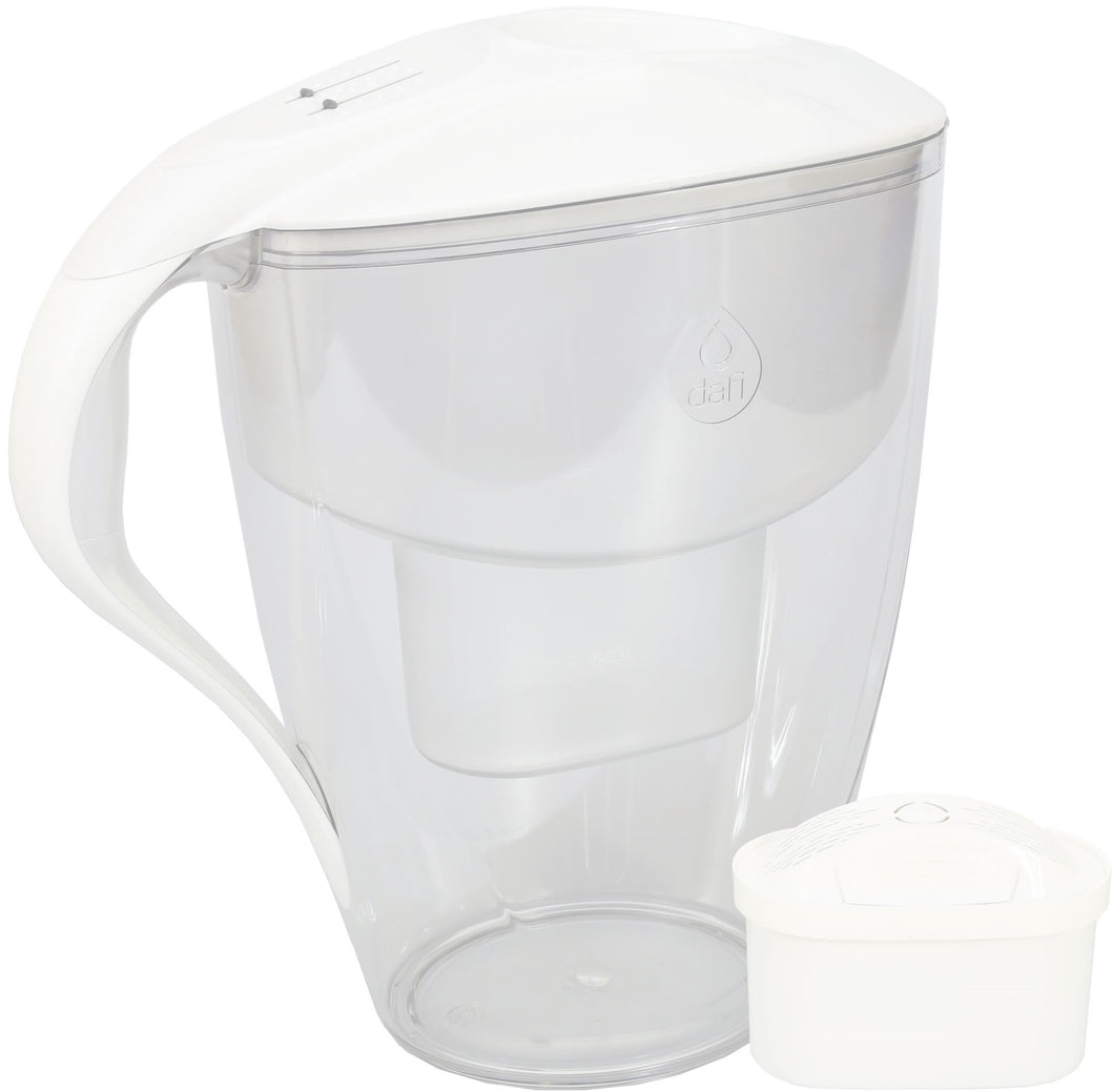 Water Filter Jug Dafi Omega Unimax 4.0L with Free Filter Cartridge - White - Prestige Cartridge