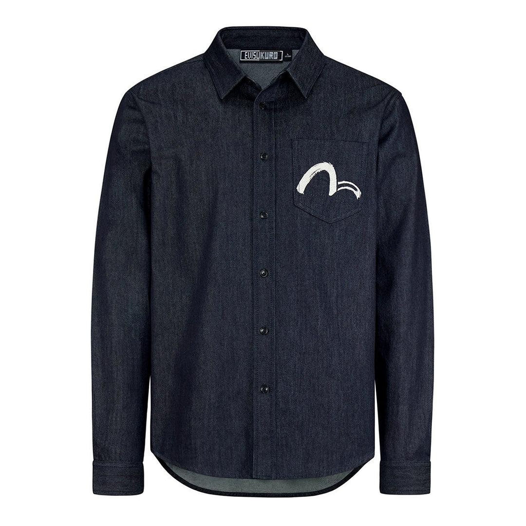 Evisukuro Calligraphy L/S Denim Shirt