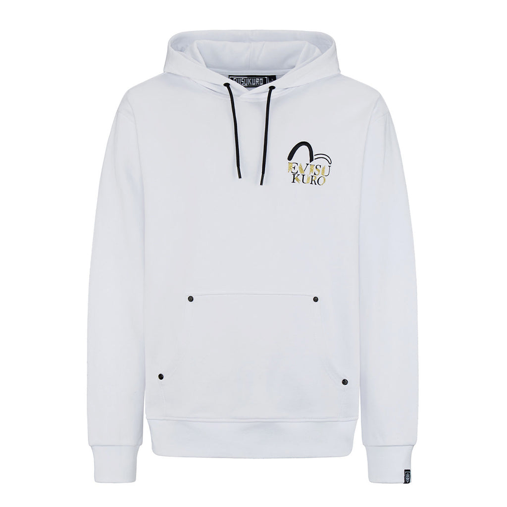 Gold Badges Tapes Pullover Hoodie