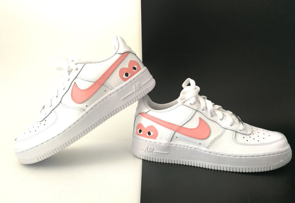 Nike Air Force 1 custom cœur rose