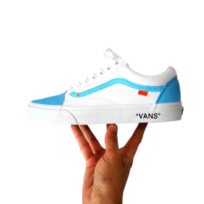 Vans custom Off White bleu