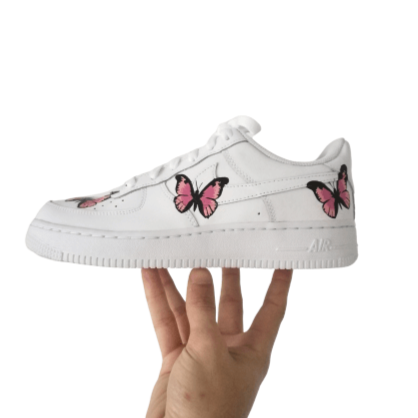 air force 1 Custom papillon