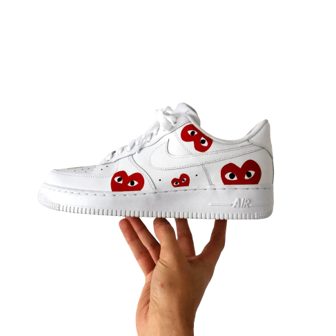 Nike Air Force 1 customisation multi-coeur