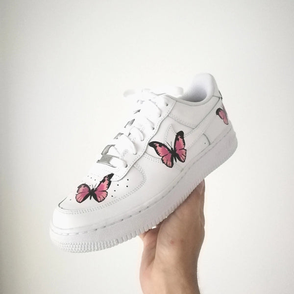 Nike Air Force 1 customisation Papillon