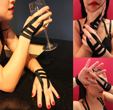 Fingerless Bondage Gloves