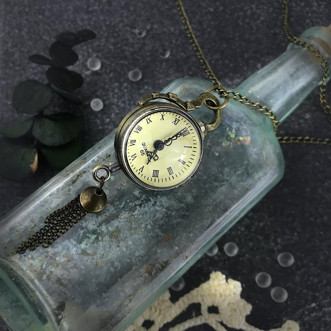 Curiouser & Curiouser Glass Ball Pocket Watch