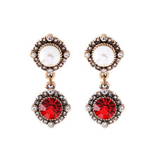 Load image into Gallery viewer, Snow White's Ruby Earrings