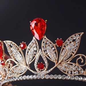 Bold in Red & Gold Crown