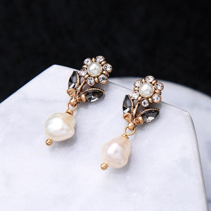 Flower Dipped in Pearl Earrings