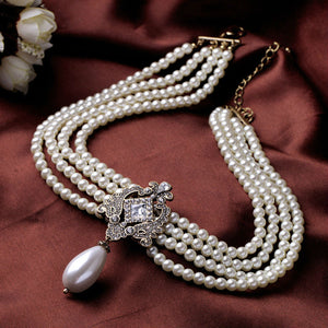 Lady Brianna Teardrop Pearl Necklace