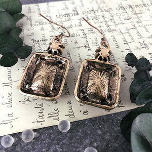 Wishes Trimmed in Gold Earrings
