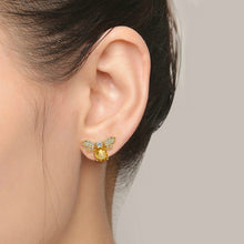 Load image into Gallery viewer, Sweet Citrine Honey Bee Earrings