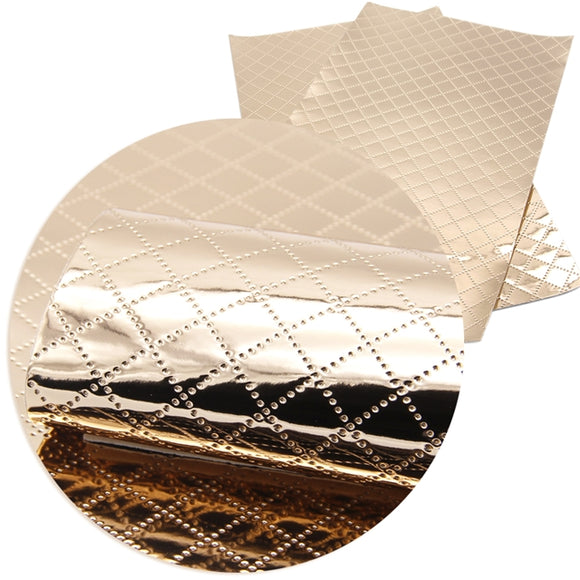 Faux Leather Sheets - Chrome Quilted