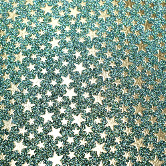 Faux Leather Sheets - Glitter and Stars