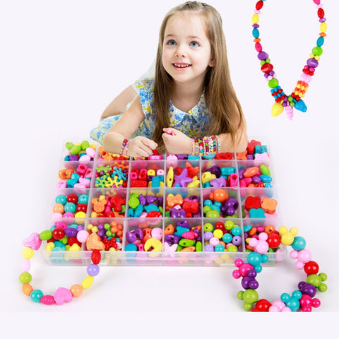 450 pcs colorful bracelet necklace bead DIY set for girls