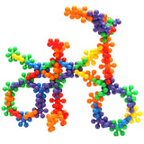 Picture of bicycle made of colorful building blocks