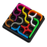 Colorful crazy curves toy with many different-shaped pieces