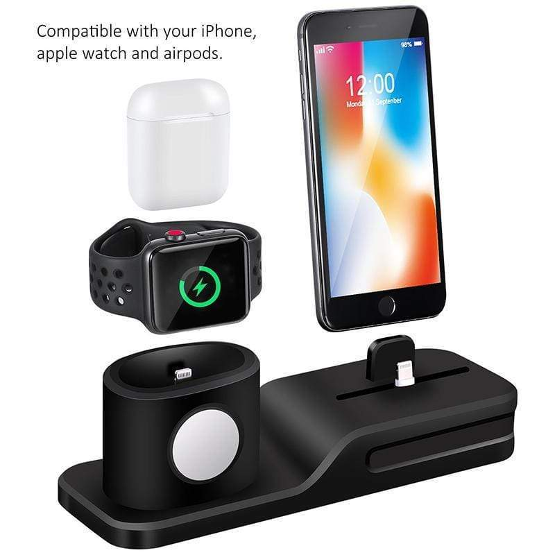 Gagitech™ 3 in 1 Wireless Apple Charging Station - - Phone Stand - Deal Builder