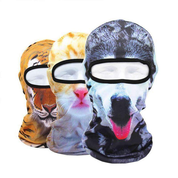 3D Animal Full Face Mask - - Animal Face Mask - Deal Builder