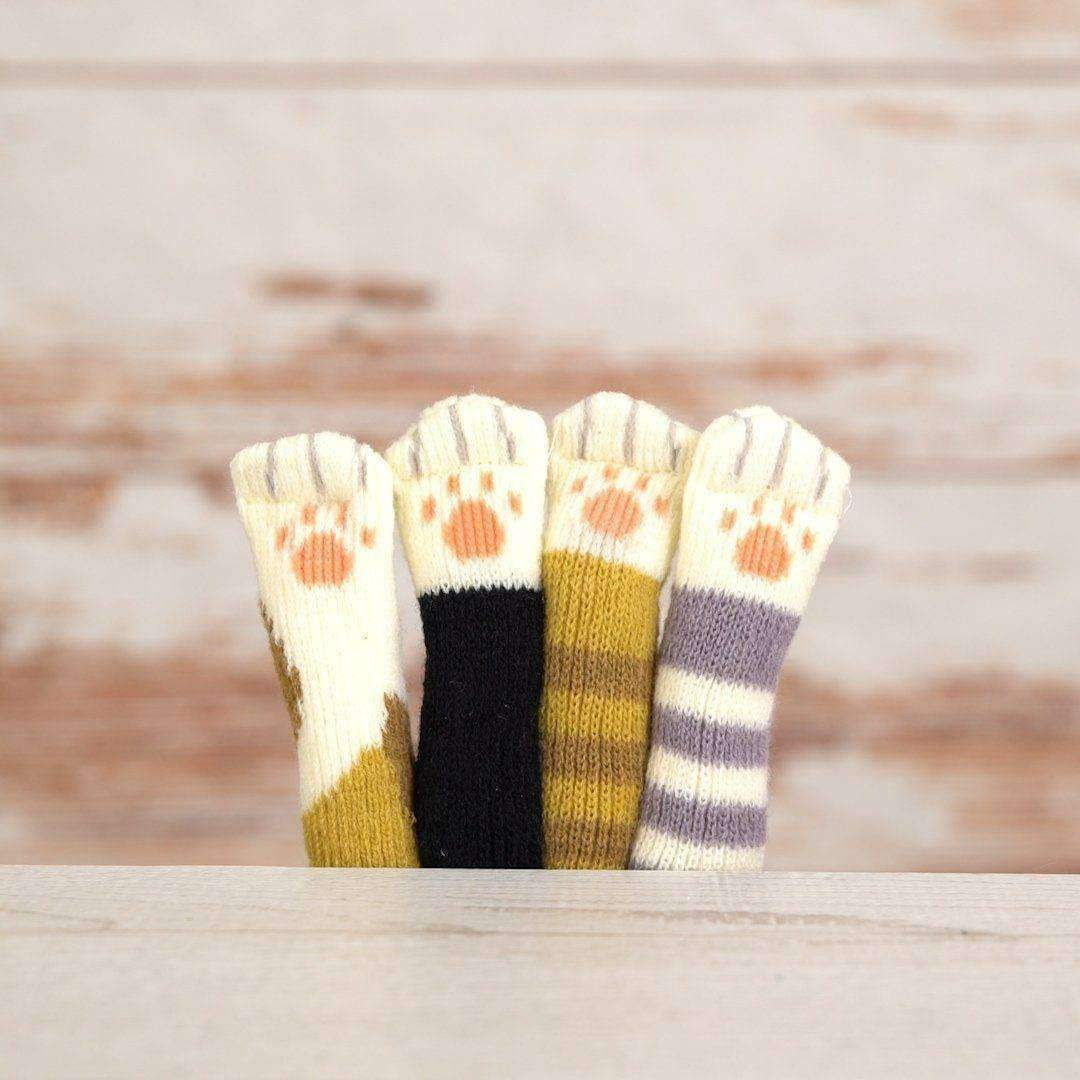 Cat Paw Chair Socks (4 Pack) - - Chair Socks - Deal Builder