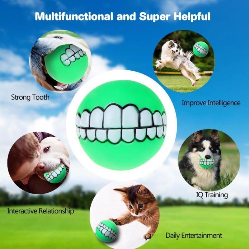 Chewy™ Dog Toy Ball With Teeth - - Dog Toy - Deal Builder