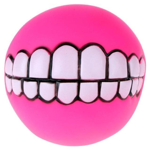 Chewy™ Dog Toy Ball With Teeth - Rose Red / Buy 1 - Dog Toy - Deal Builder