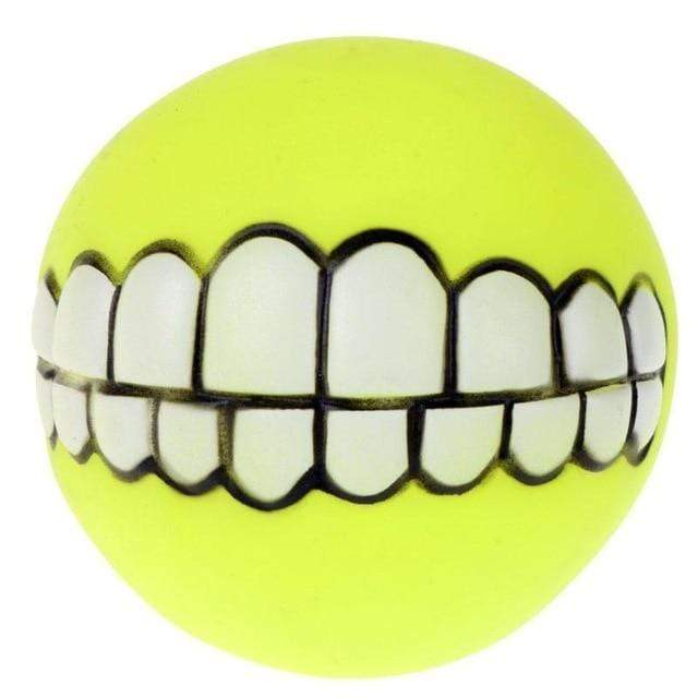 Chewy™ Dog Toy Ball With Teeth - YELLOW / Buy 1 - Dog Toy - Deal Builder