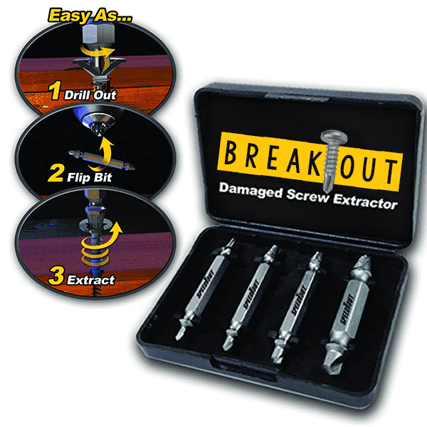 Deal Builder  -  Damaged Screw Extractor (Set of 4)  -   -  Screw Extractor Set