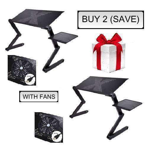 Ergonomic Executive Multi-functional Laptop Stand - BUY 2 (SAVE) / COOLING FAN UPGRADE - Lapdesks - Deal Builder