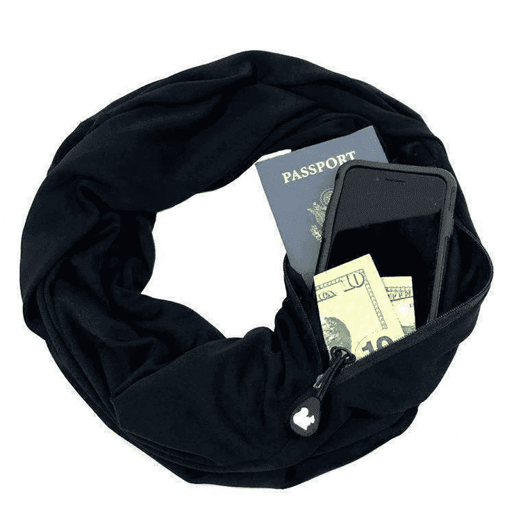 Infinity Travel Pocket Scarf - - Scarf - Deal Builder