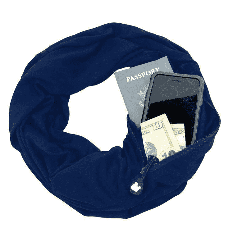 Infinity Travel Pocket Scarf - Blue / Buy 1 - Scarf - Deal Builder