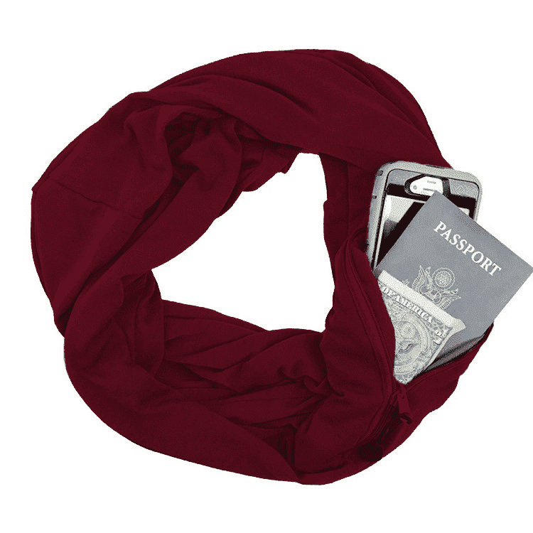 Infinity Travel Pocket Scarf - Red / Buy 1 - Scarf - Deal Builder