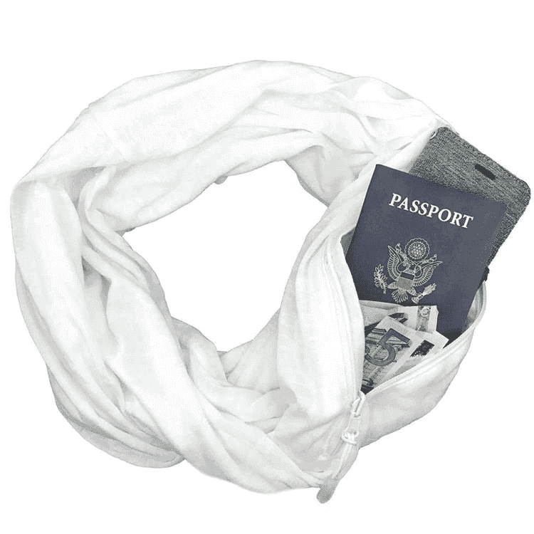 Infinity Travel Pocket Scarf - White / Buy 1 - Scarf - Deal Builder