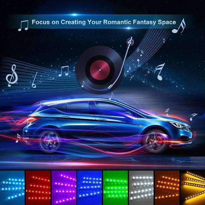 LED Interior Car Lights   All Colors, Music Activation, U0026 Wireless Remote  Control