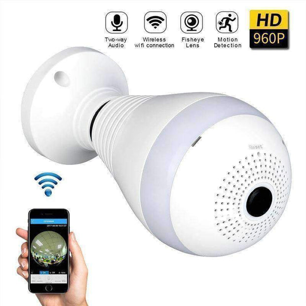 Panoramic Wireless Bulb Security Camera - - Gadgets - Deal Builder