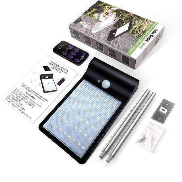 SOLAR OUTDOOR MOTION SENSOR LIGHT - Black Shell / BUY 2 (SAVE) - Outdoor solar lights - Deal Builder