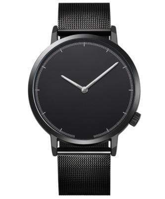 Deal Builder  -  The Stainless Timepiece  -  Black w/Black Band  -  Watch